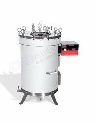 15 To 22 Psi ISO 9001 2008 EIE Vertical Steam Sterilizer, 2 KW