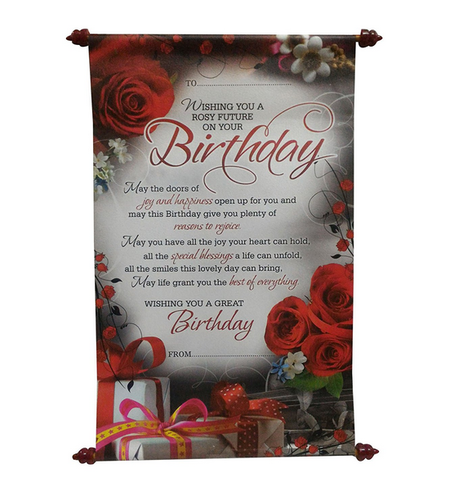 Birthday Scroll Card At Rs 299 Piece