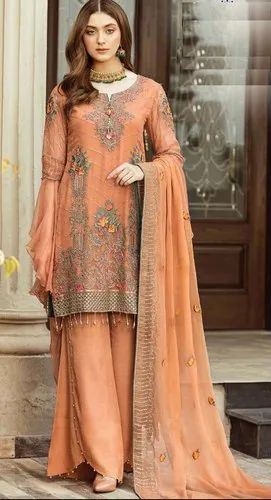 Cotton Embroidered Ladies Trendy New Design Printed Salwar Kameez