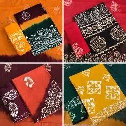 Female Wax Batik Dress Material