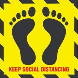 Floor Marking Social Distancing Stickers