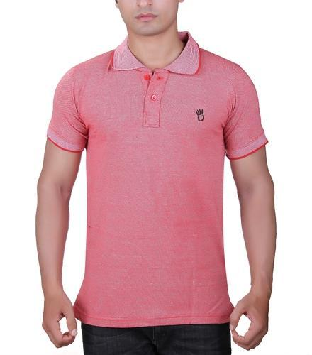 05c00736 Finger's Men's Premium Cotton Red Plain Polo T-Shirt, Size: M To XL ...