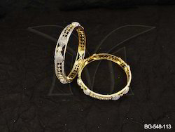 Paan Bow Style Corners American Diamond Bangles