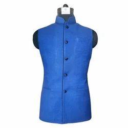 Blue Party Wear Mens Cotton Waist Coat