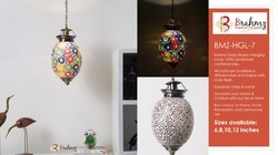 Multi Color Fluorescent Brahmz Glass Mosaic Hanging Lamp -HGL 7