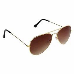 Golden Aviator Sun Goggles