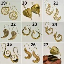 Brass Hand Made Earring Set