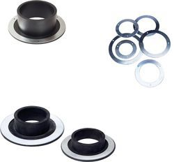 Rubber Flange with Steel Gaskets