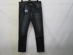 Mens Black Colour Slim Fit Stretch Jeans(PW-015)
