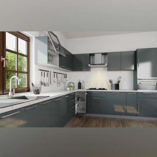 Wooden Clover Modular Kitchen
