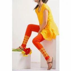 Cotton Churidar Ladies Printed Legging, Size: XL