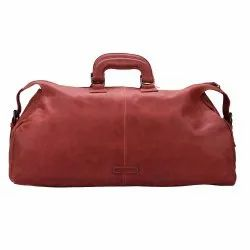 f7d4535d9 Genuine Waxy Goat Leather Travel Duffel Bag Luggage Carry On Soft Weekender  Overnighter Ba.