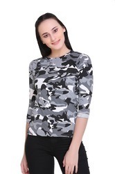 Cotton Trendy Round Neck Top for Women, Size: S to XXL