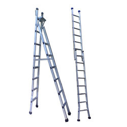 Aluminum Stool Cum Straight Folding Ladder