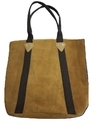 Mon Exports Casual Wear Genuine Leather Suede Tote Bag