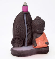 Buddha Meditation Smoke Fountain (Orange) Buddha Maditation Smoke Fountain / Buddha Meditation Incen