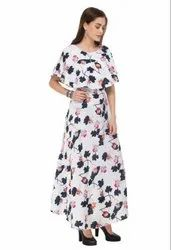 Women/Ladies Ruffle/Printed Export Quality Maxi Dress Western Wear