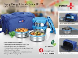 H102 - Zippy Delight: 4 Container Lunch Box (Steel Containers)