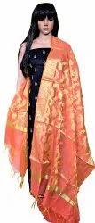 RIAA-Designer Chanderi /Banarasi Salwar Kameez Ethnic Dress Material Suit