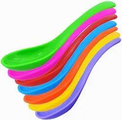 Utensza Plastic, Microwave Safe, Set of 7 Pcs, Unbreakable, Colorful Soup/Dessert Spoons