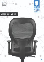 Diya Black Office Chair Parts, For Back Support, Size: Medium