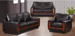 Dark Brown Office Stylish Sofa Set
