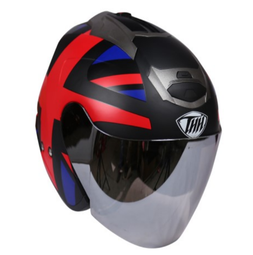 8cd9e27d Super THH T-386 Black England - Matt Half Face Helmet - Tong Jih ...