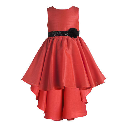 6f396541400 3-4 To 9-10 Years Embellished Orange Flower Girls Dresses