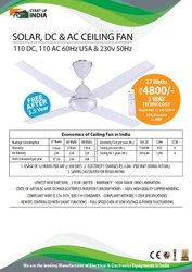 Solar DC & AC Ceiling Fan