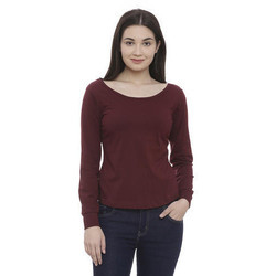 Ladies Full Sleeve Round Neck T Shirts