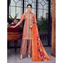 Dark Peach Designer Party Wear Lakhnavi Sharara Suit