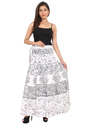 White & Black Wrap Around Skirt