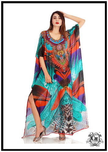 6deef66eb99e9 Couleur Mutation Chiffon And Georgette Printed Kaftans, Rs 1299 ...