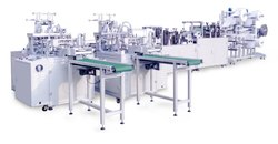 Speed: 12000 Pcs Per Hour Fully Automatic Face Mask Making Machine With Nose Pin Attached