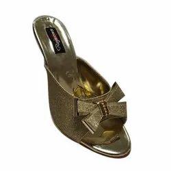 Rajson & Company Casual Wear Ladies Golden High Heel Sandal