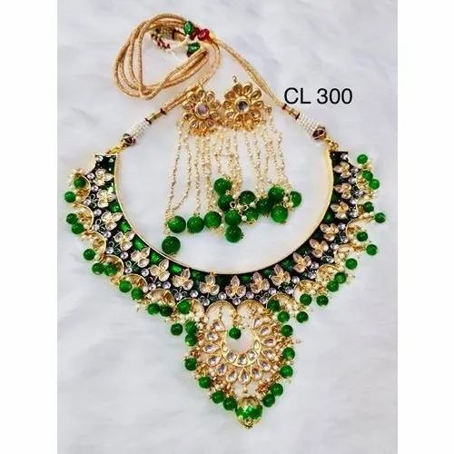 Skillful Manufacture Jewelry & Watches Designer Traditional Party Wear High Grade Kundan Necklace For Women Fashion Jewelry