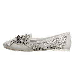 Ladies White Casual Loafers Shoes