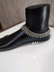 Ladies Silver Fancy Anklets