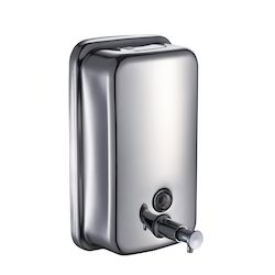 Grey Steel Soap Dispenser