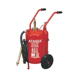 Atasee Mild Steel BC Type Trolley Mounted Fire Extinguisher, For Commercial