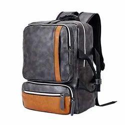 Rust Grey Tarkan Zeus Vegan Leather Compact Backpack