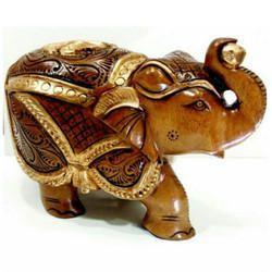 Painted Elephant Statue