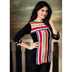 Ladies Multicolor Lining Tops