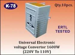 K-78 Universal Electronic Voltage Converter (220-110 VAC)