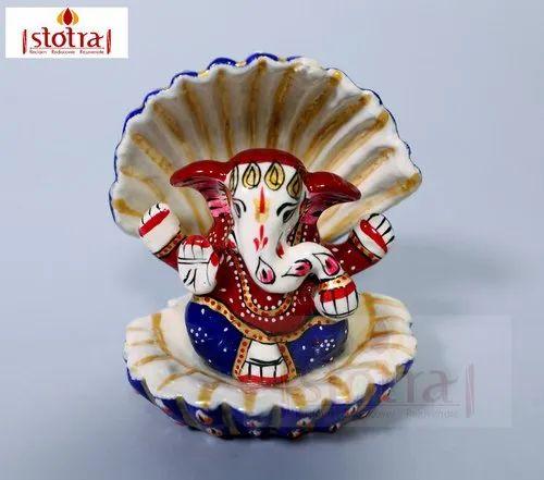 Metal Ganesha Meenakari Decorative Showpiece