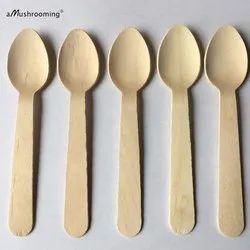 110 mm Disposable Wooden Spoon
