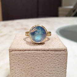 Blue Moon Stone Silver Ring