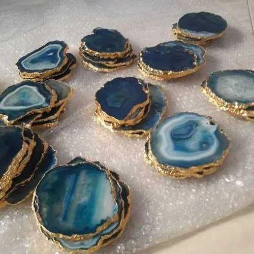 Agate Coaster Slice Agate Coaster एग ट स ल इस स Fatema Agate Cambay Id 20296227497