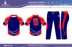 Colored Cricket Jerseys