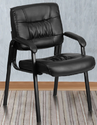 Metal Visitor Chair In Black Colour